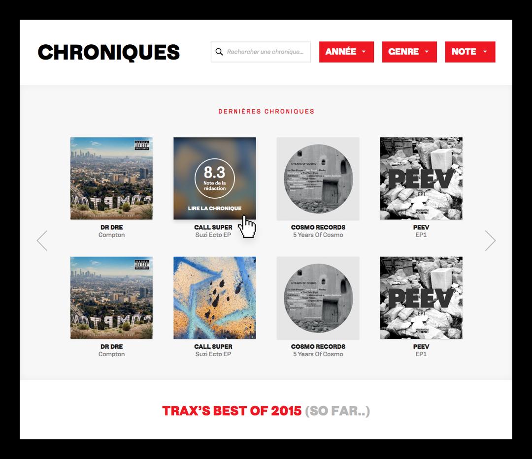 TRAX Magazine - Chroniques