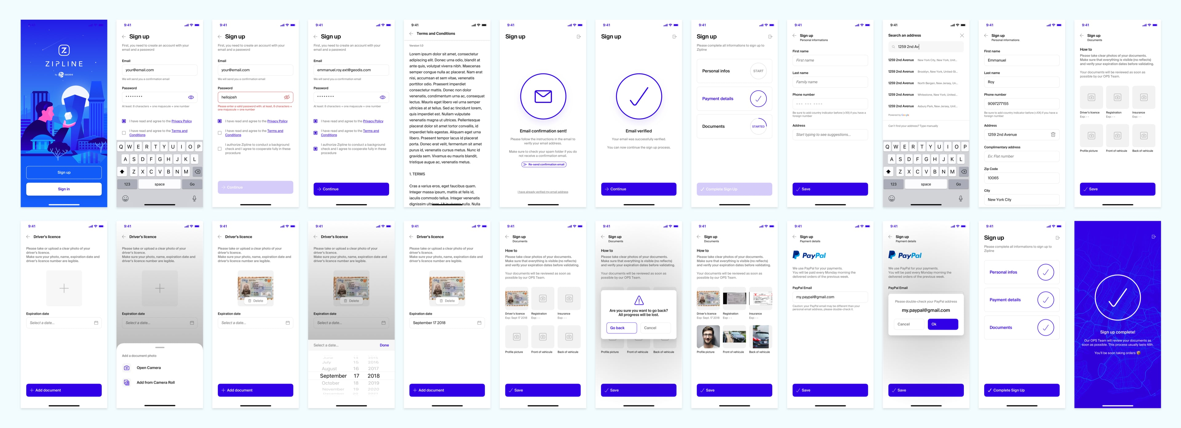 Onboarding – Signup Process
